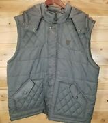 Lifted Research Group Lrg Puffy Chest Vest Jacket 2xl Xxl With Hoodie