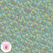 Riley Blake Beautiful Day C10692s Blue Green Sea Floral Echo Paper Quilt Fabric