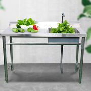 Kitchen Sink For Commercial Use Stainless Steel With Faucet Long Service Life Us