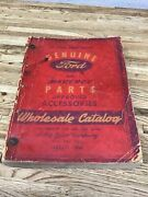 Genuine Ford And Mercury Parts Wholesale Catalog 1938-1946 Cars Vintage A-1