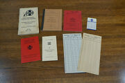 Lot Vtg Sante Fe Railroad Train Switch List Agents Safety Rules 1969 Card