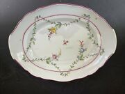 """Meissen Large 18th Century Academic Period Platter Perfect Condition 13"""" W"""