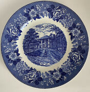 Turkey Run State Park Indiana Blue Staffordshire Porcelain Plate 10andrdquo