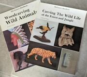Lot Of 2 Woodcarving Books Wild Animals Pergrin