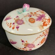 Rare Meissen 18th C Marcolini Sugar Bowl With Original Lid Which Needs Rest.