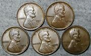 1910 1911 1912 1929 1929-s Lincoln Cent Wheat Penny ---- Nice Lot ---- N160