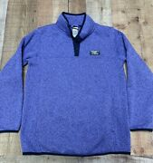 Ll Bean Sweater Kids Large Youth 14/16 Pullover Fleece T Snap Boys Girls Outdoor