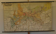 Wall Map Brandenburg-prussia 83 1/8x50 13/16in 1900 Vintage Prussian History