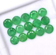 Certified Natural Emerald 5 Mm Round Cut Green Loose Faceted Gemstone 250 Pieces