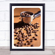 Coffee Grinder With Beans Photograph Wall Art Print