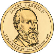 2011-p James Garfield Presidential Dollar Coin - Uncirculated From Mint Roll