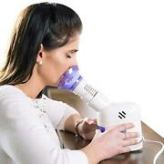 Mabis Personal Facial Steam Inhaler And Vaporizer With Aromatherapy Diffuser And