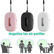 Portable Necklace Air Purifier Mini Negative Ion Air Cleaner Ionizer Anion Home