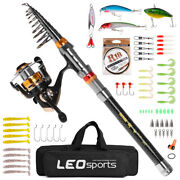 Fishing Rod And Reel Combo Carbon Fiber Telescopic Fishing Rod With X3m1
