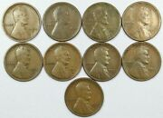 1910-15 S 22-d 24-d 26-s Lincoln Wheat Cent Collection 9 Coins Semi-key Circ