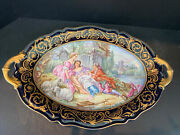 Beautiful Large 19th Century Sevres Platter Courting Scene 20andrdquo X 13andrdquo Make Offer