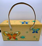 Vintage Enid Collins Glitterbugs Box Purse With Jeweled Flowers And Insects