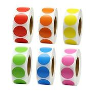 1 Inch Color Coding Label Garage Sale Stickers Blank Yard Sale Price 6 Colors