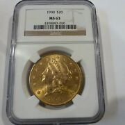 1900 20 Us Gold Liberty Head Double Eagle Coin Ngc Ms63