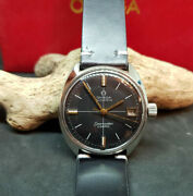 Vintage Omega Seamaster Cosmic Black Dial Date Automatic Manand039s Watch