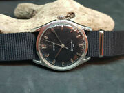Rare 1954 Omega Seamaster 30 Cal283 Black Dial Manual Wind Manand039s Watch