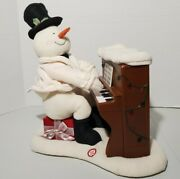 Hallmark Jingle Pals Musical Plush Singing Snowman W/ Playing Piano Doesnand039t Move