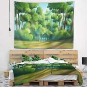 Designart And039green Jungle With Dense Treesand039 Landscape Wall Small