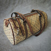 Dooney And Bourke Barrel Bag / Neutral Colors Cocoa Brown And Camel