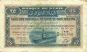 Syria Lebanon 25 Piastres 1919 P-2 Mandate Issue A Very Rare And Nice Note