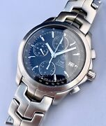 Tag Heuer Link Automatic Chronograph 42mm Black Dial Watch 200m Cjf2110 Val 7750
