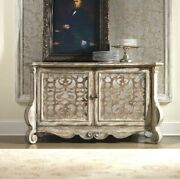 New Rustic French Provincial Sideboard Buffet Antique White Mirror Glass Doors