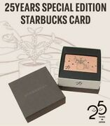 Starbucks Card 25th Anniversary Special Limited Edition Metal Card