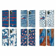 Official Nfl Buffalo Bills Art Leather Book Wallet Case For Apple Iphone Phones