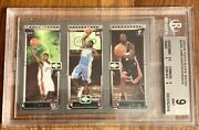 2003 Topps Rookie Matrix Jaw Lebron James Carmelo And Wade Nba Rc Card Psa 9 Mint