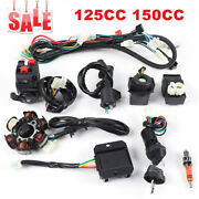 6 Pole 5 Wire Direct Replacement Gy6 125cc 150cc Wiring Harness With Spark Plug