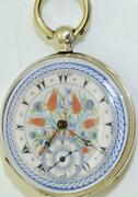 Antique 19th Century Key Wind Silver Pocket Watch For The Ottoman Market.c1860and039s