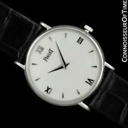 Piaget Altiplano Mens Unisex 18k White Gold Watch - 18100 Mint With Warranty