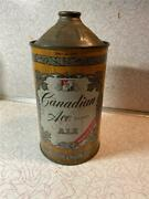 Canadian Ace Ale Canadian Ace Brg Co Chicago Il One Quart Cone Top Inside Can