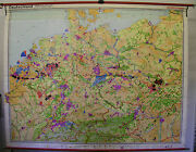 Wall Chart Roll Chart Germany Industry Economy 244x192 1976 Vintage Paris