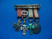 Portugal Portuguese Army Military Africa War 4 Miniature Medals In Silver