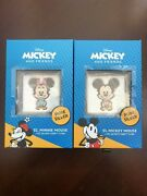 Chibi Coin Disney Minnie Mouse And Mickey Mouse Combo Set 2 Coins In Hand