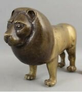 Early Bronze Sergio Bustamante Lion Signed Solid Bronze Super Heavy