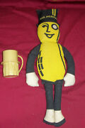Old Mr. Peanut Doll And Cup Vintage Planters Advertising Ad Figure Mug Collectable
