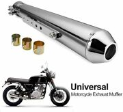 Exhaust Pipe Motorcycle Muffler Short Universal Removable Silencer Left Right
