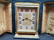Rare Vintage Zenith 8 Days Travel Clock Whytock And Sons Dundee With Case
