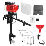 2 Stroke 3.6hp Outboard Motor Boat Engine Air Cooling Technology R7-1/4x5-ain