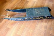 Antique Wild Pigeon Wood Sled Circa 1870-1950and039s We Ship