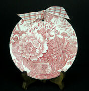 Vintage Royal Staffordshire Clarice Cliff Charlotte Red And White 5-3/4 Plate