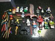 Lego Minifigures Lot Of 19 Figures Batman Ace Night Wing Swords Other