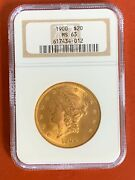 1900 Gold 20 Liberty Head Coin Ngc Ms 63